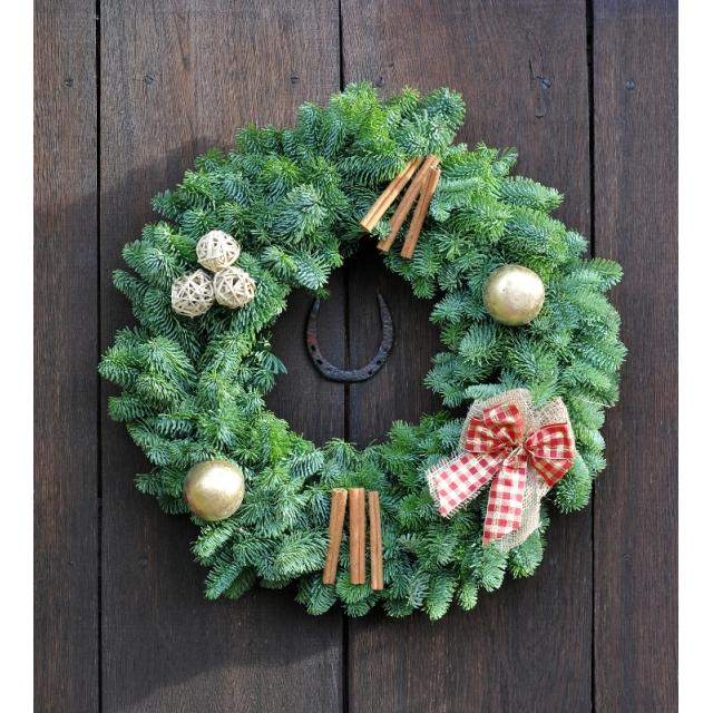 Cinnamon Gold Decorated Wreath 10in