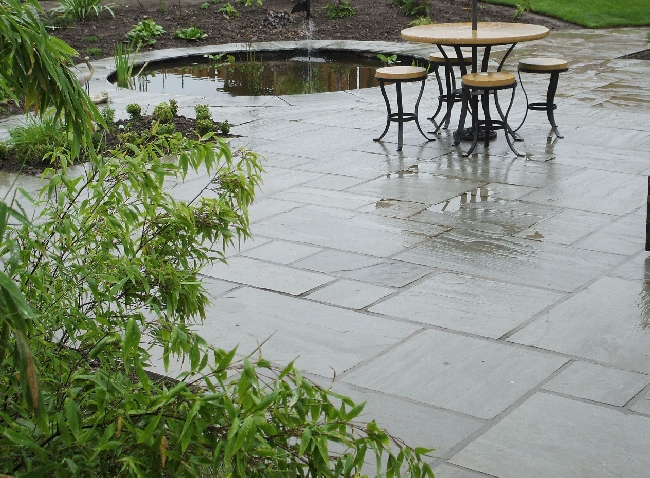 Natural stone patio pack silver grey roceco ecological - Natural stone patio images ...