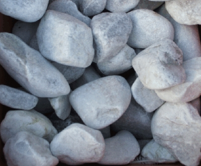 Bulk bag of Ledmore Marble cobbles