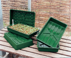 Injection moulded seed tray