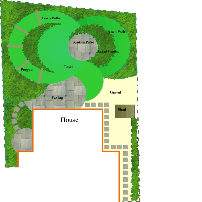 Modern contempory Garden Plan