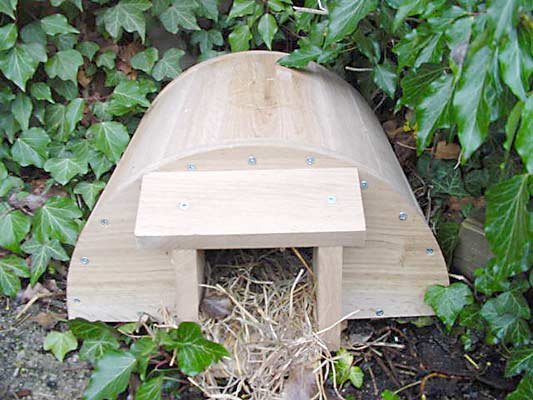 Eden project hedgehog house