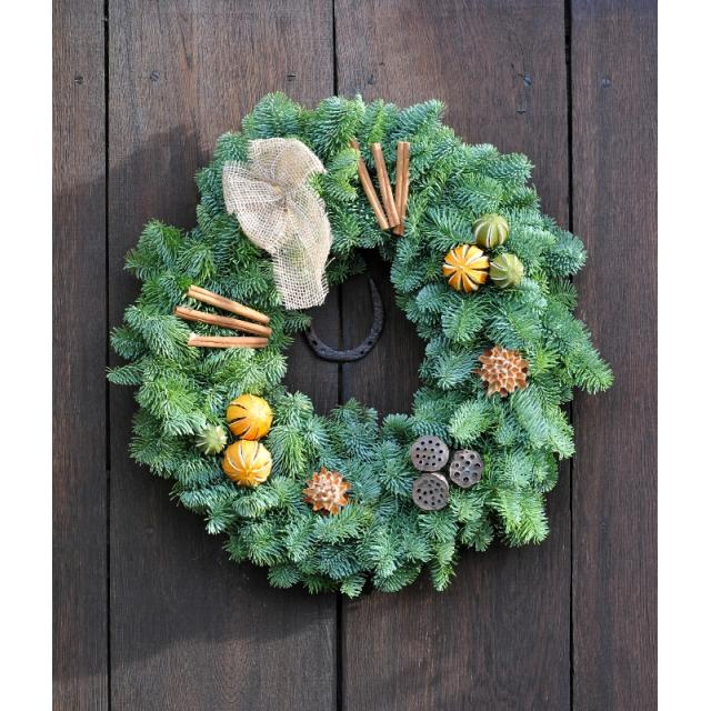Naturally Decorated Wreath 10in