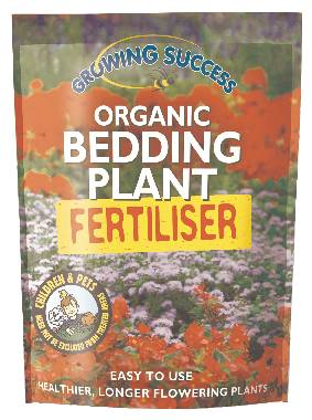 Organic bedding plant fertiliser