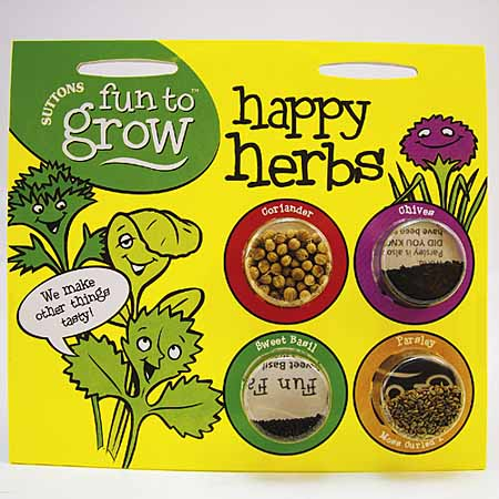 Fun to Grow - Happy Herb Seeds