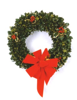 Fresh Holly Wreathes