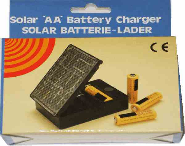 Solar battery charger for 4 x AA batteries