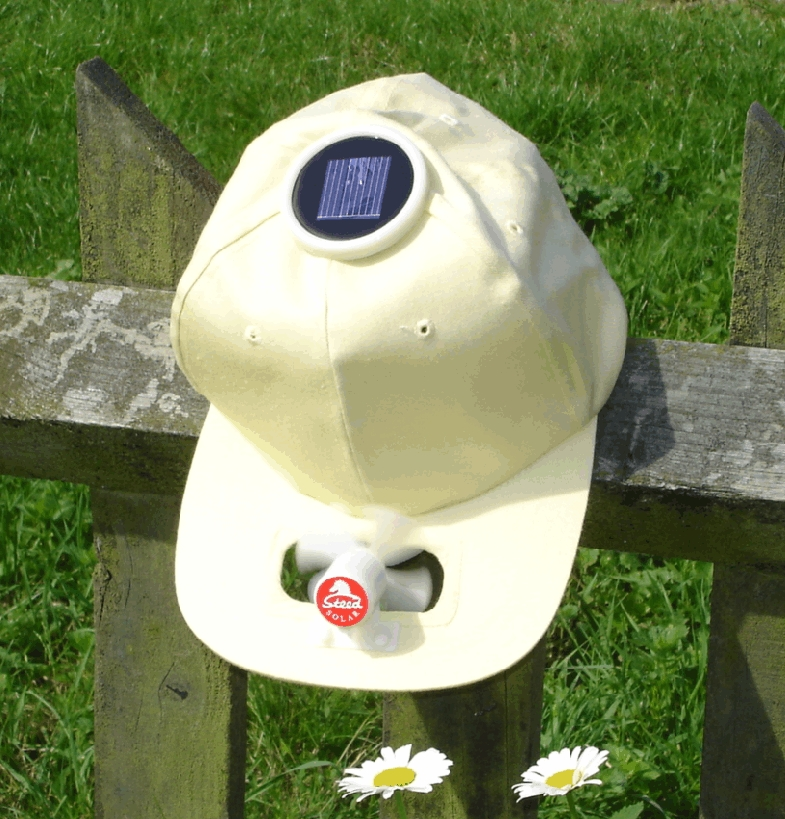 Solar cool cap with round cell (white)