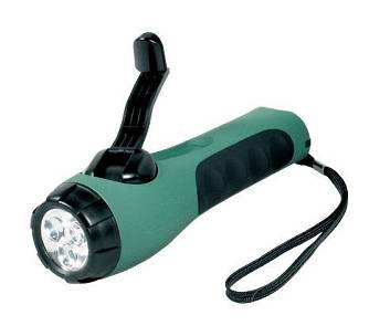 Eco wind-up torch (green)