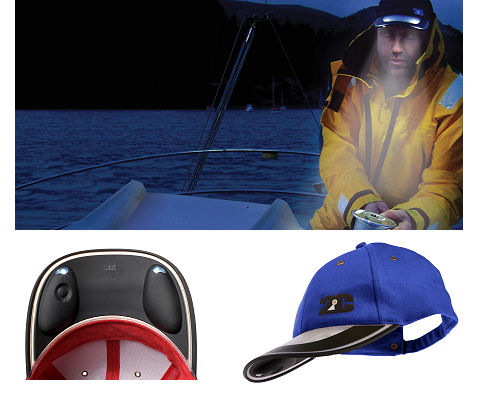 Solar Light Cap (blue)