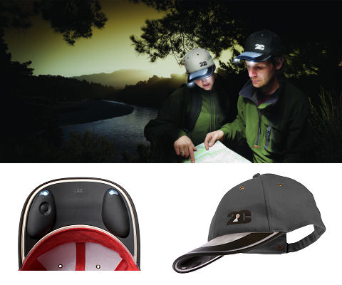 Solar Light Cap (Grey)