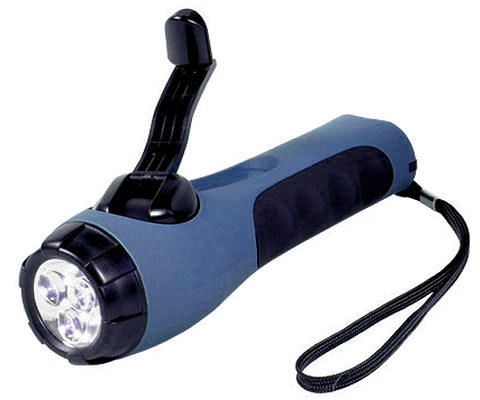 Eco wind-up torch (blue)